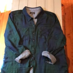 Lucky Brand plaid blouse tunic